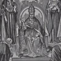 Pontifex Maximus or Pope Seated on Satan's Throne